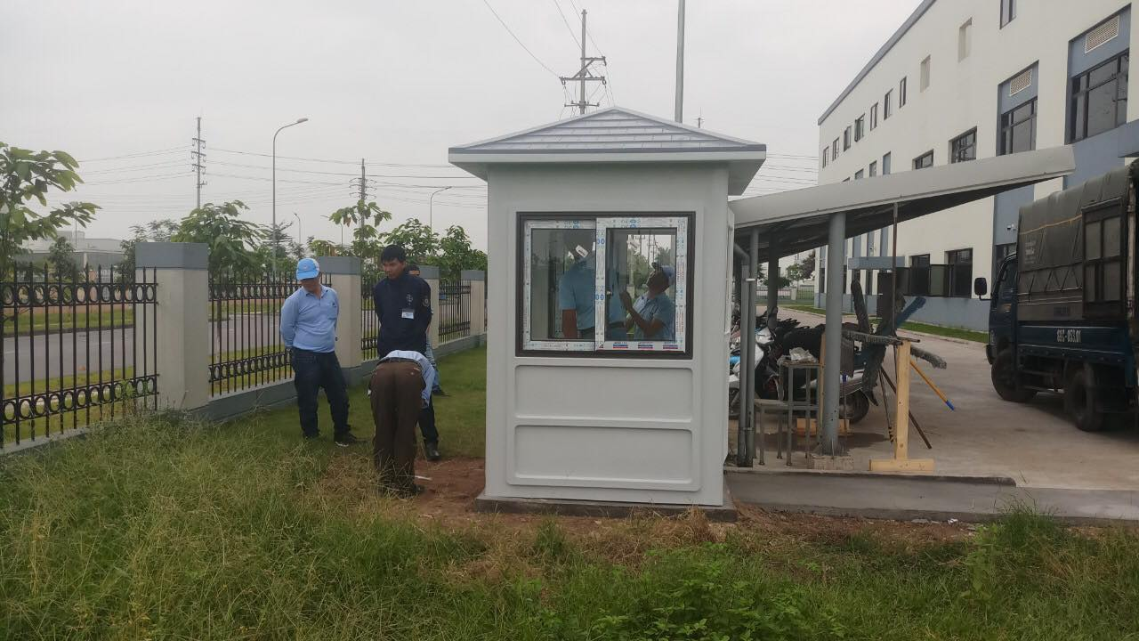 Cabin chốt an ninh khu công nghiệp